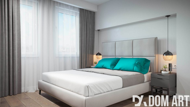 biała nowoczesna sypialnia