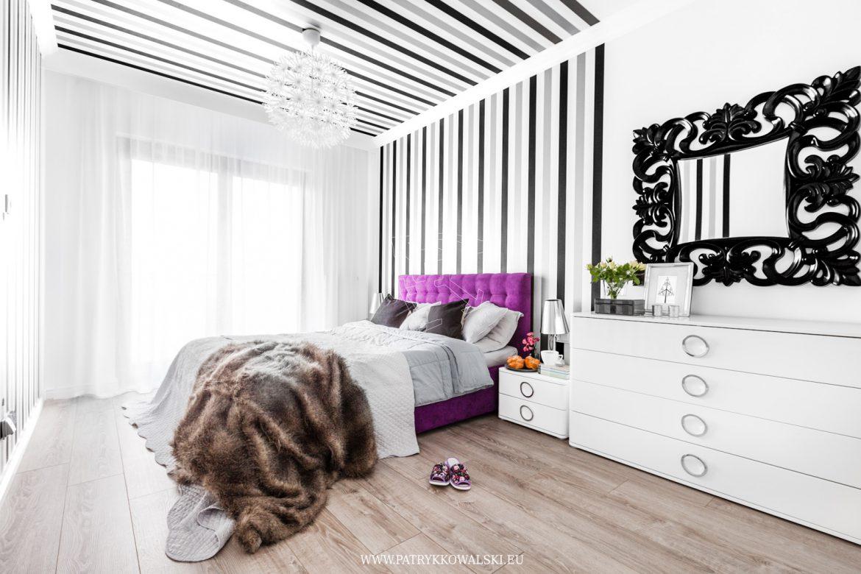 Aranżacja Fioletowej Sypialni M Mieszkanie