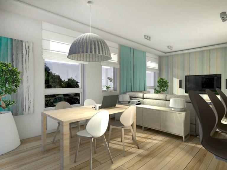 polakstudio » Mieszkanie z dodatkiem zieleni