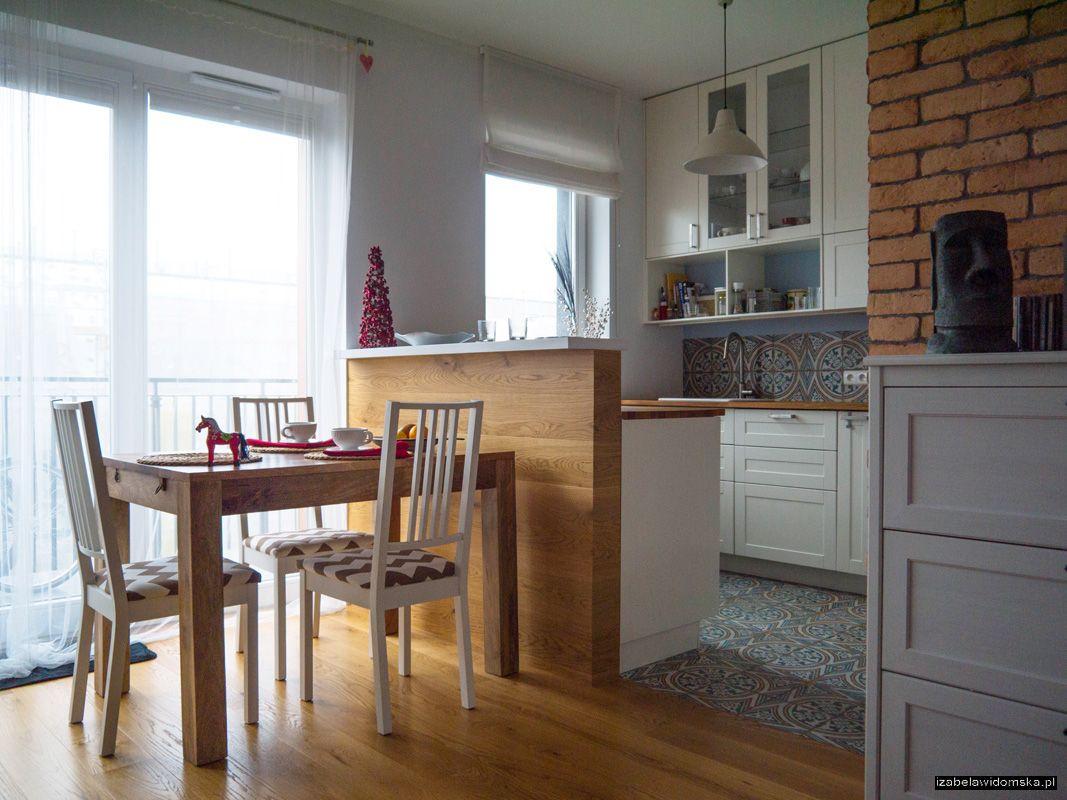 Izabelawidomska Kuchnia Z Drewnianym Blatem I Barkiem M Mieszkanie
