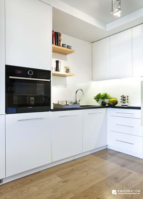 kwadraton » Mieszkanie dwupoziomowe w odcieniach błękitu