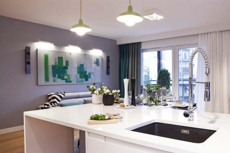 kwadraton » Mieszkanie w odcieniach zieleni