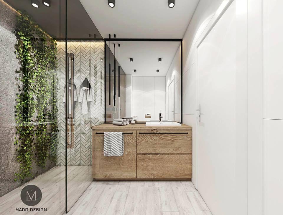 Projekt łazienki Z Zielenią W Krakowie M Mieszkanie