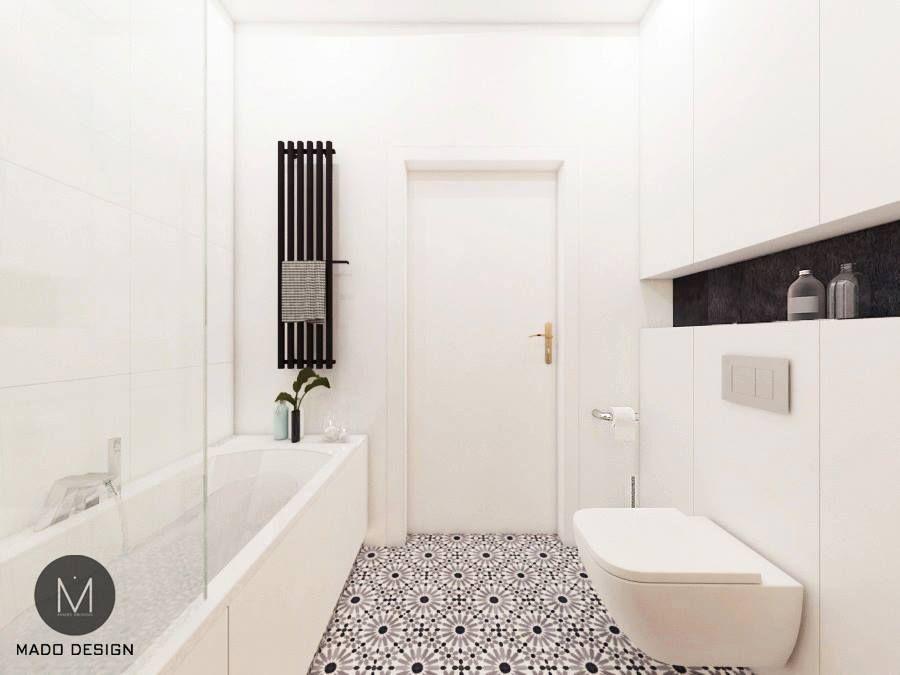 Projekt Białej łazienki W Krakowie M Mieszkanie