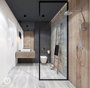 Mado Design Projekt łazienki I Kuchni Z Czernią M Mieszkanie