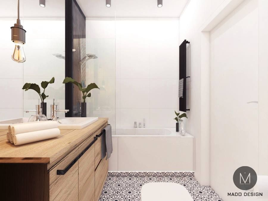 Mado Design Projekt Białej łazienki W Krakowie M Mieszkanie