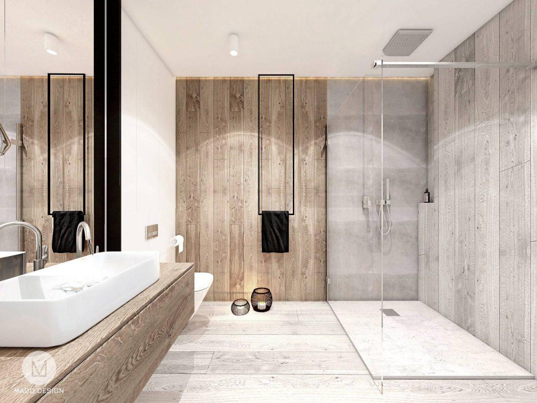 Projekt łazienki I Kuchni W Szarościach M Mieszkanie