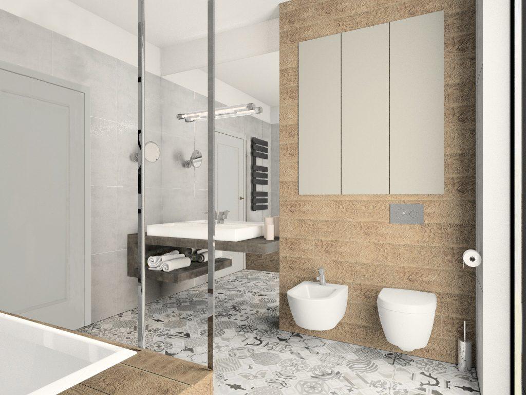Fluo Design łazienka Przy Sypialni M Mieszkanie