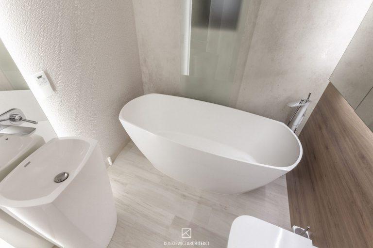 kunkiewicz » Wnętrza domu jednorodzinnego w bieli