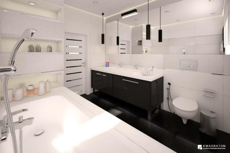 kwadraton » Dom z nowoczesną bielą