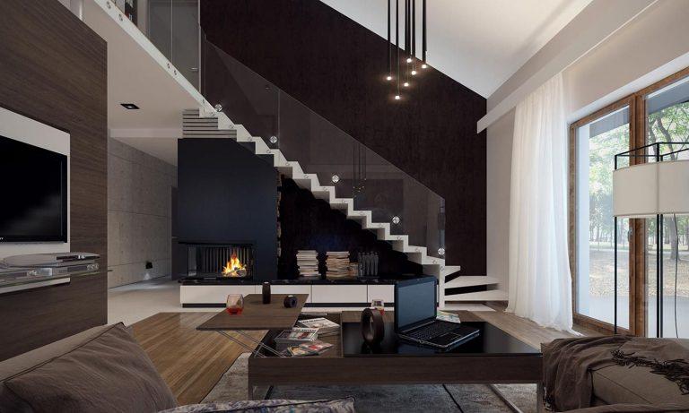 lekkie nowoczesne schody betonowe