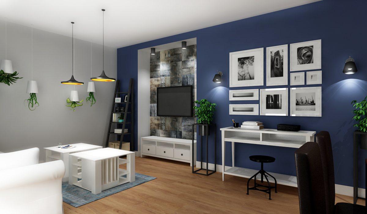 5 Inspiracji Na Urzadzenie Niebieskiego Salonu M Mieszkanie