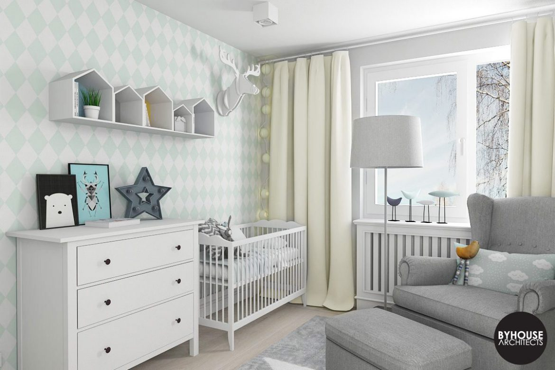 pokoj dla niemowlaka w skandynawskim stylu