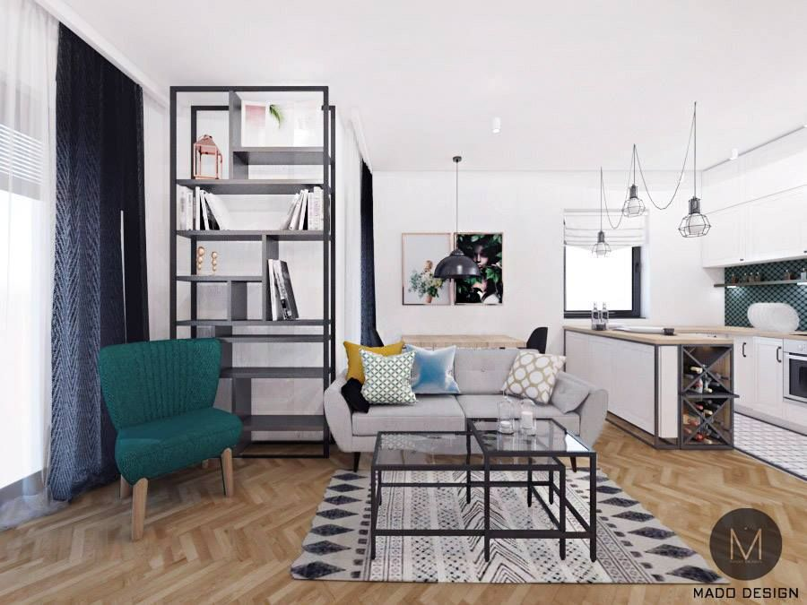 Mado Design Projekt Salonu Z Kuchnia M Mieszkanie