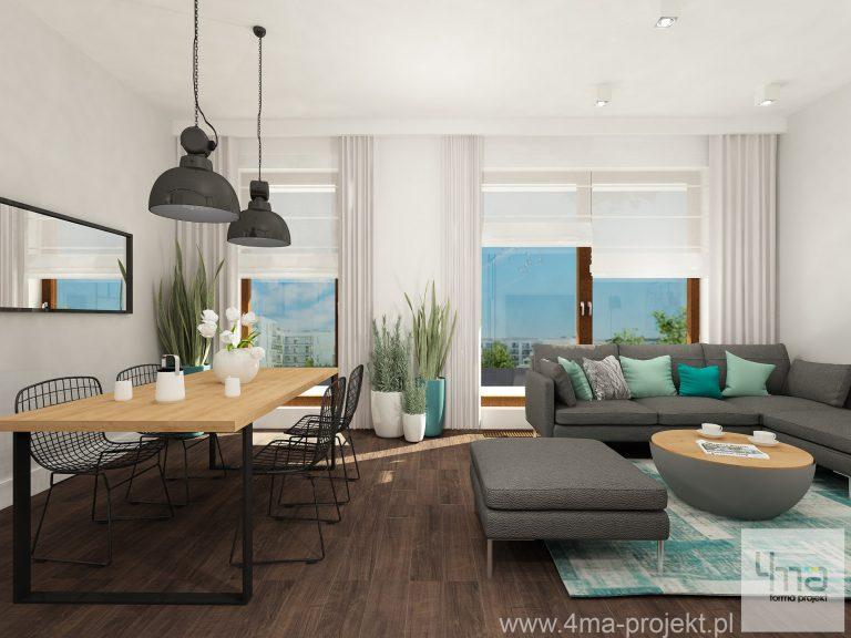 4maprojekt » Mieszkanie na Żoliborzu 70 m2