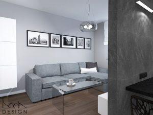 kodadesign » Mieszkanie z szarościami