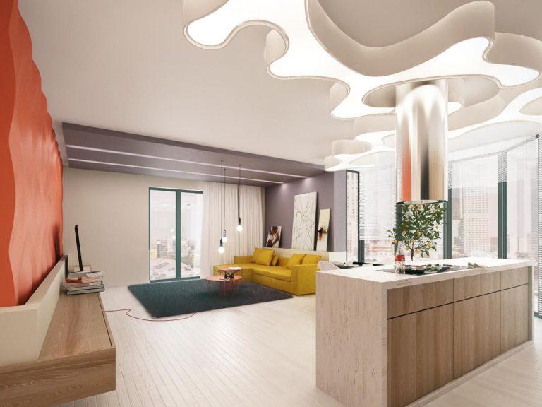polakstudio » Mieszkanie w intensywnych kolorach