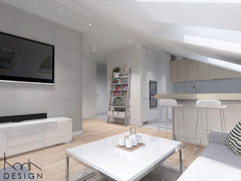 kodadesign » Białe mieszkanie na poddaszu