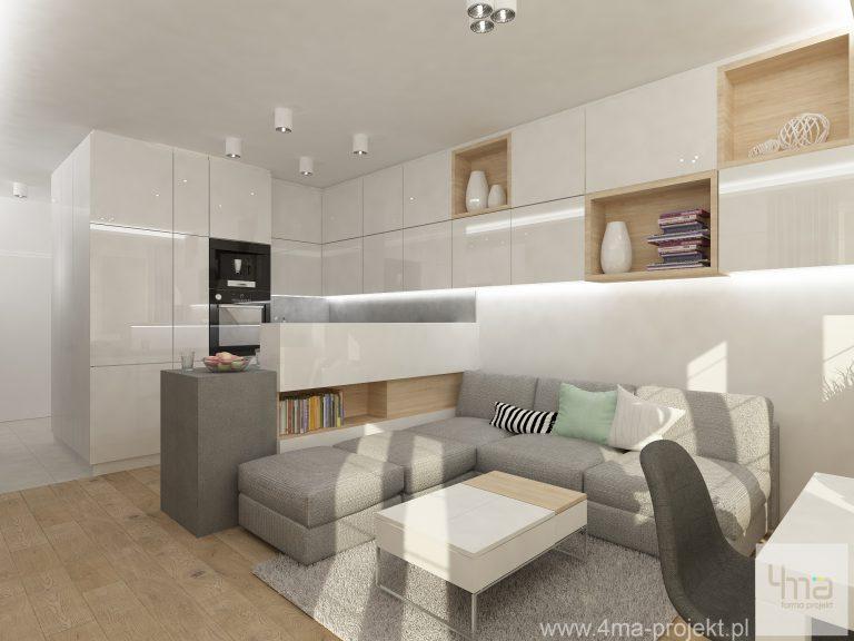 4maprojekt » Mieszkanie w Pruszkowie 53 m2