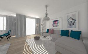 decoretti » Mieszkanie w szarościach