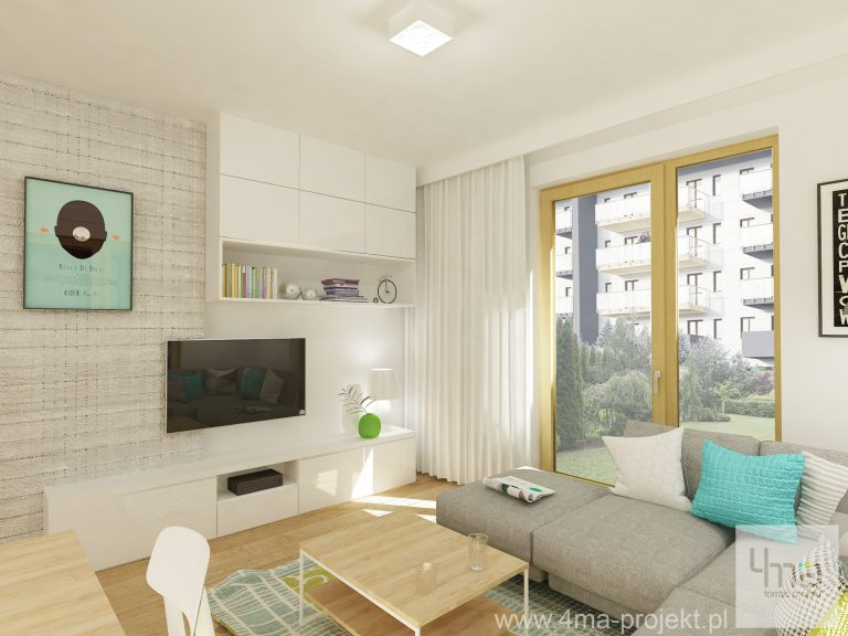 4maprojekt » Mieszkanie na Bielanach 60 m2