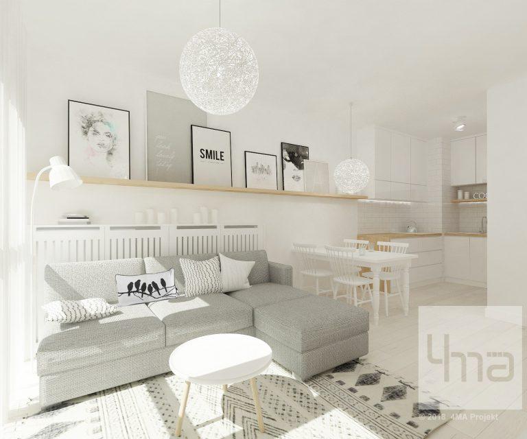 4maprojekt » Mieszkanie na Wilanowie 42 m2
