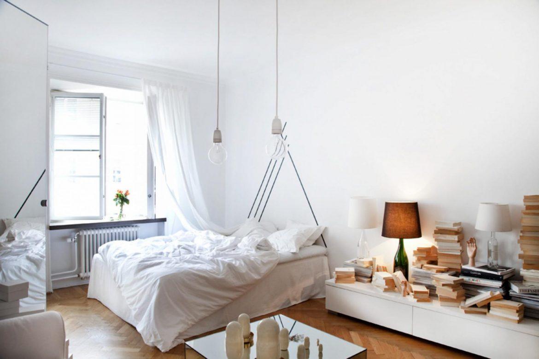 salon z lozkiem sypialnym