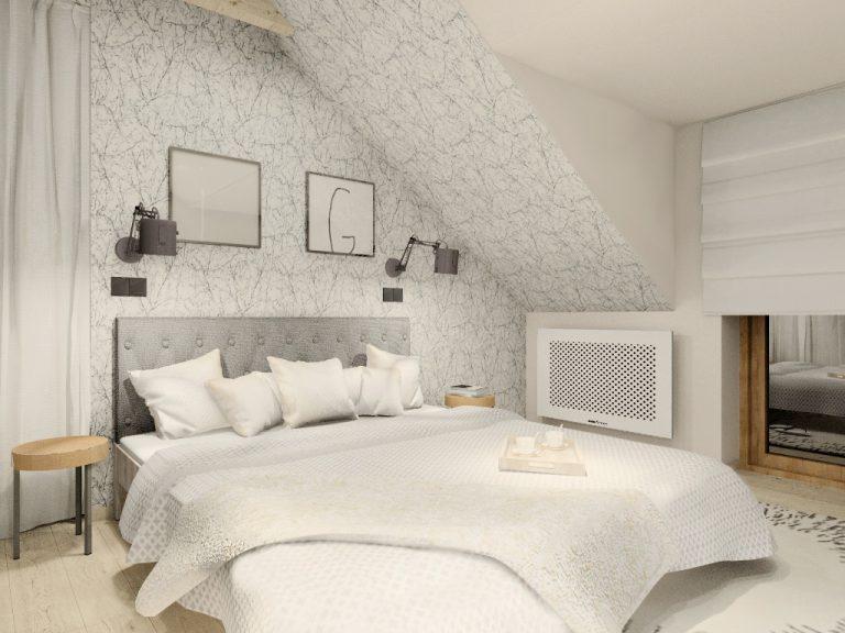 Fluo Design » Sypialnia z przeszkloną ścianą
